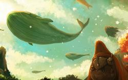 Fantasy flying whales