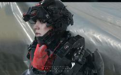 Fantasy future girl soldier