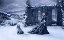 Fantasy snow queen