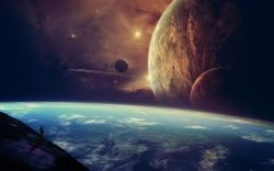 Fantasy space earth