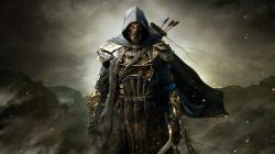 The_Elder_Scrolls_Online__warrior__Armor__sword__Arrows__hood__Mountains__Assassin_fantasy_skyrim_1920x1080