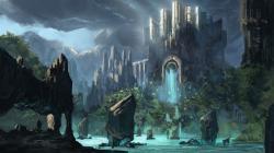 Fantasy Palace Nature Wallpaper High Definition