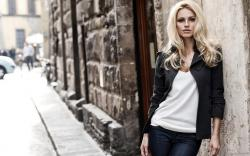 Fashion Model Blonde City Street