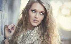 Fashion Model Portrait Sweater