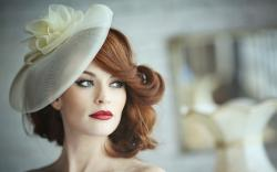 Fashion Model Redhead Woman