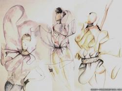 Wallpaper: Ballet Fashion Sketches
