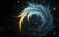 Swirling feathers wallpaper