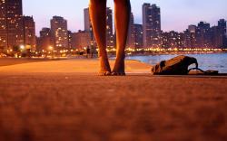 Feets city shore walk