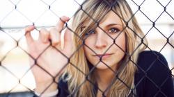Fence Beauty Blonde Girl Model Photo