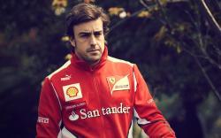 Fernando Alonso Driver Formula 1 Ferrari Photo