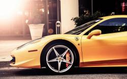 Ferrari 458 Italia Car Yellow Street