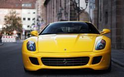 Ferrari 599 Gtb Fiorano Yellow Car