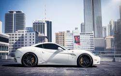 Ferrari California White Parking City