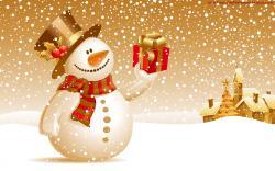 Download Festive Snowman Wallpaper HD wallpaper for free.