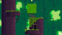 In Fez, the player-character hops between platforms to collect golden cube fragments in a variety of settings.