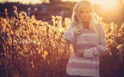 Field Beautiful Blonde Girl