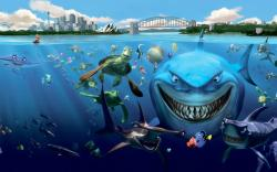 Finding Nemo Underwater Fish Sharks Turtles Cartoon Wallpaper For Free Mac