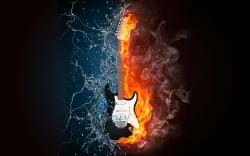 Fire Water Guitar