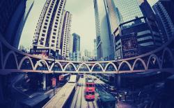 1440x900 Hong Kong Fisheye Photo