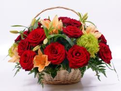 Basket Flowers dastop wallpapers