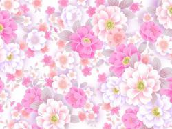 Cute Flower Pattern Wallpaper