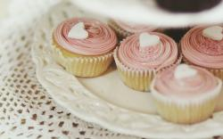 Food Cupcakes Hearts Love