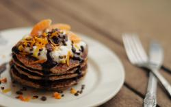 Food Pancakes Chocolate