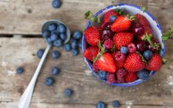 Berries Strawberries Raspberries Blueberries Cherries