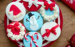 Cakes Cream Christmas Sweets Snowman Food Dessert Holiday
