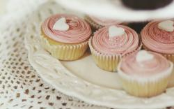 Food Sweet Cupcakes Hearts