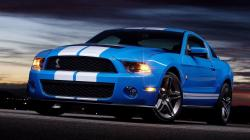 ... Car Bus Yellow. Ford Mustang Shelby Gt500 Blue