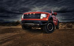 Orange Ford Truck Hq Wallpaper