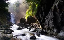 Forest Waterfall Wallpaper 04