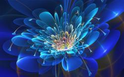 Fractal Flower Blue Fractal Flower