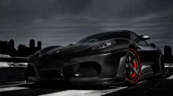 Black Ferrari Wallpaper HD