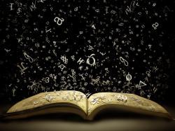 Books, words, black