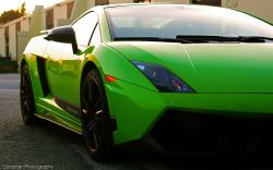 Free Car Wallpapers, Gallardo Superleggera in Stop, Front Face Close-Up 5120X3200 free
