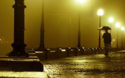 evening rain hd wallpaper