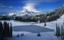 Free Frozen Lake Wallpaper 7119