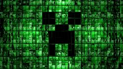 Minecraft Wallpaper Digital Creeper