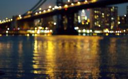 Brooklyn Bridge River City Night Lights Hd Wallpaper Zoomwalls