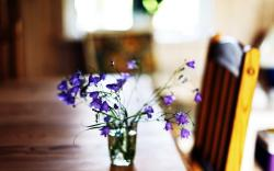 Table Flowers Wallpaper