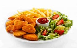 DOWNLOAD: Meat and French fries free picture 2560 x 1600