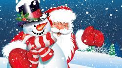 Frosty Santa Wallpapers Hd Free