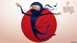 Funny Ninja Cartoon Art