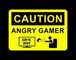 Caution angry gamer Wallpaper in 1280x1024 5:4