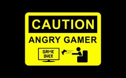 Caution angry gamer Wallpaper in 1680x1050 Widescreen