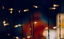 Holiday New Year Garland Light Bulbs