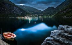 Geiranger lake norway