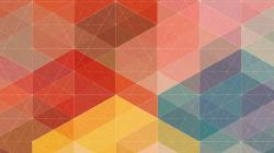 Blue Geometric Wallpaper (4)